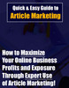 Thumbnail Guide to Article Marketing