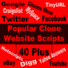 Thumbnail 40 Plus Popular Clone Website Scripts