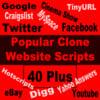 Thumbnail 40 Plus Popular Clone Website Scripts