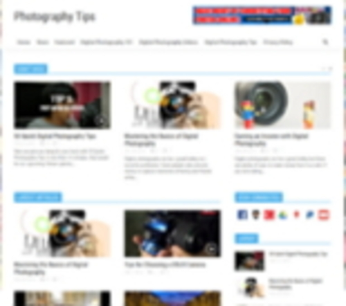 Pay for Photography Niche Blog Turnkey Website