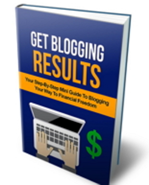 Pay for Get Blogging Results  MRR/Giveaway Rights