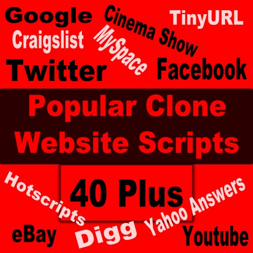 Pay for 40 Plus Popular Clone Website Scripts