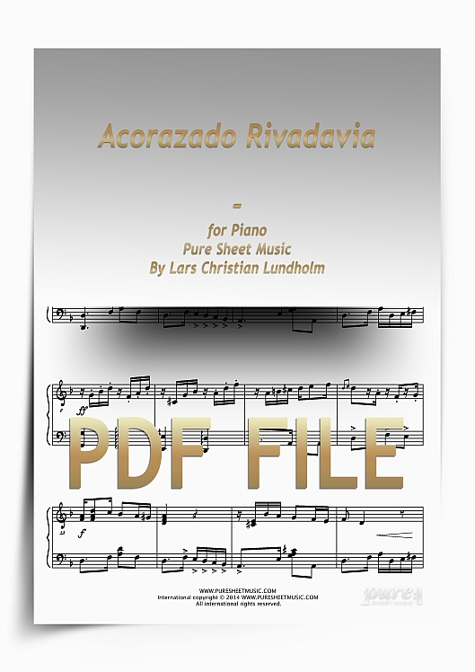 Thumbnail Acorazado Rivadavia for Piano (PDF file), Pure Sheet Music arranged by Lars Christian Lundholm