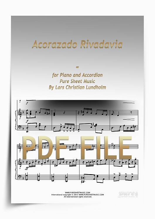 Thumbnail Acorazado Rivadavia for Piano and Accordion (PDF file), Pure Sheet Music arranged by Lars Christian Lundholm