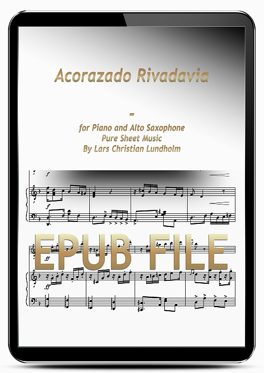 Thumbnail Acorazado Rivadavia for Piano and Alto Saxophone (EPUB file), Pure Sheet Music as Ebook arranged by Lars Christian Lundholm