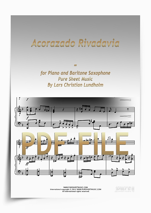 Thumbnail Acorazado Rivadavia for Piano and Baritone Saxophone (PDF file), Pure Sheet Music arranged by Lars Christian Lundholm