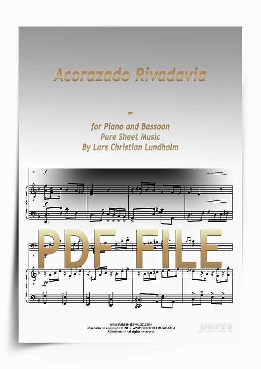 Thumbnail Acorazado Rivadavia for Piano and Bassoon (PDF file), Pure Sheet Music arranged by Lars Christian Lundholm
