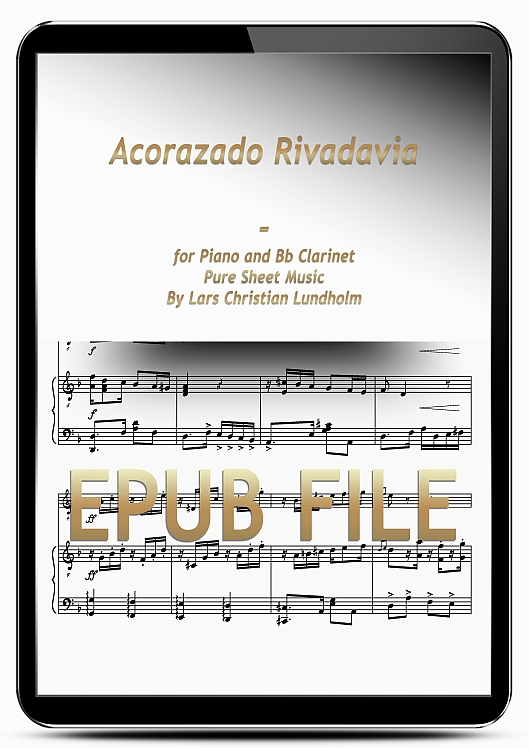 Thumbnail Acorazado Rivadavia for Piano and Bb Clarinet (EPUB file), Pure Sheet Music as Ebook arranged by Lars Christian Lundholm