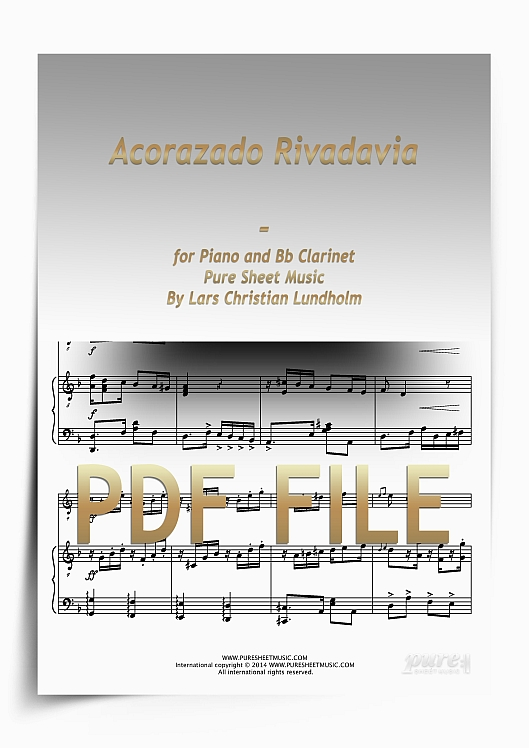 Thumbnail Acorazado Rivadavia for Piano and Bb Clarinet (PDF file), Pure Sheet Music arranged by Lars Christian Lundholm