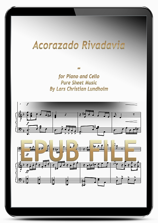 Thumbnail Acorazado Rivadavia for Piano and Cello (EPUB file), Pure Sheet Music as Ebook arranged by Lars Christian Lundholm