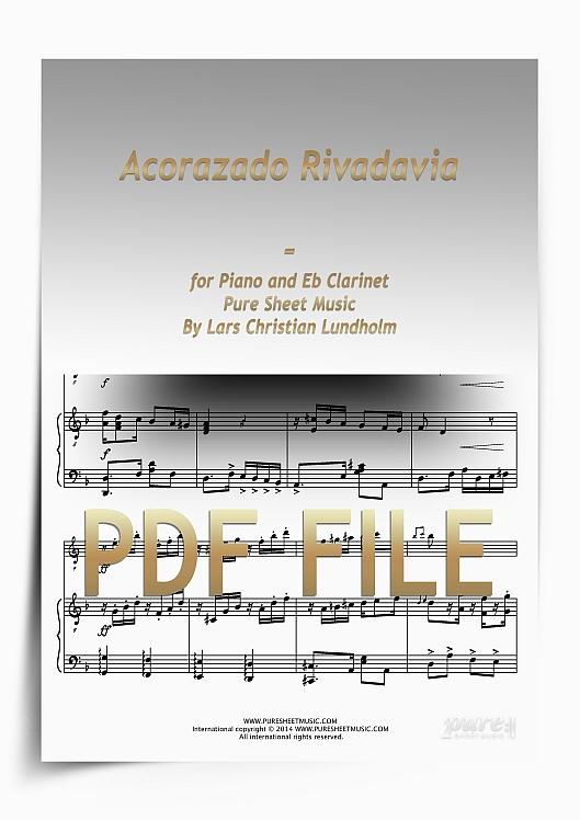Thumbnail Acorazado Rivadavia for Piano and Eb Clarinet (PDF file), Pure Sheet Music arranged by Lars Christian Lundholm