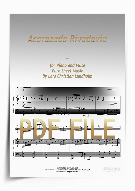 Thumbnail Acorazado Rivadavia for Piano and Flute (PDF file), Pure Sheet Music arranged by Lars Christian Lundholm