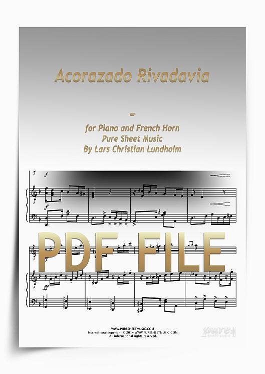 Thumbnail Acorazado Rivadavia for Piano and French Horn (PDF file), Pure Sheet Music arranged by Lars Christian Lundholm