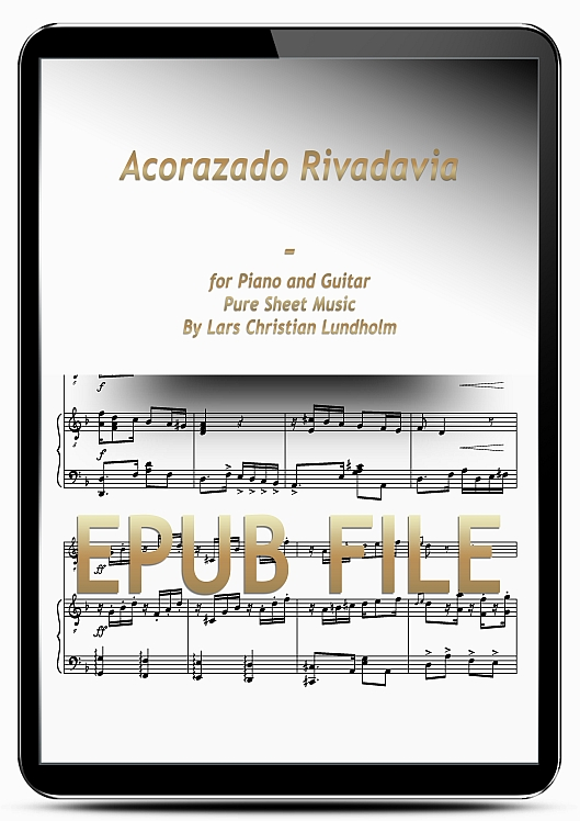 Thumbnail Acorazado Rivadavia for Piano and Guitar (EPUB file), Pure Sheet Music as Ebook arranged by Lars Christian Lundholm