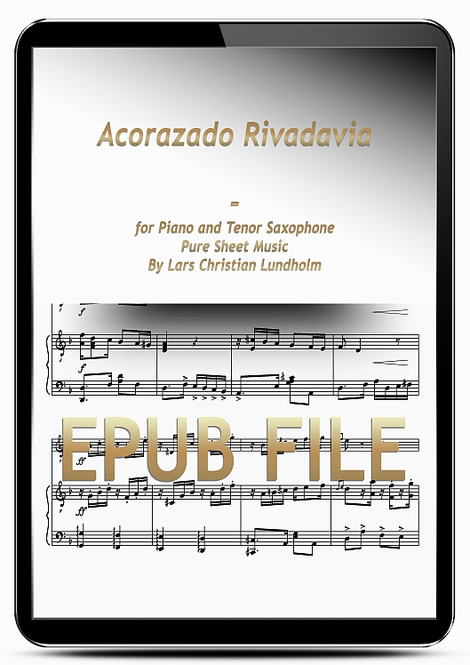 Thumbnail Acorazado Rivadavia for Piano and Tenor Saxophone (EPUB file), Pure Sheet Music as Ebook arranged by Lars Christian Lundholm