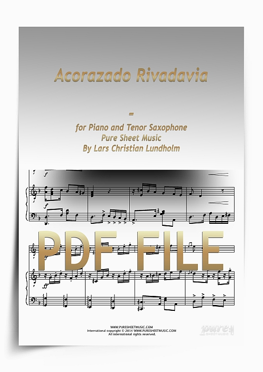 Thumbnail Acorazado Rivadavia for Piano and Tenor Saxophone (PDF file), Pure Sheet Music arranged by Lars Christian Lundholm