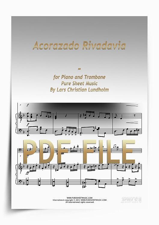 Thumbnail Acorazado Rivadavia for Piano and Trombone (PDF file), Pure Sheet Music arranged by Lars Christian Lundholm