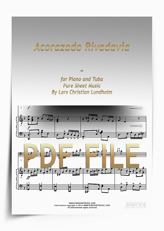 Thumbnail Acorazado Rivadavia for Piano and Tuba (PDF file), Pure Sheet Music arranged by Lars Christian Lundholm