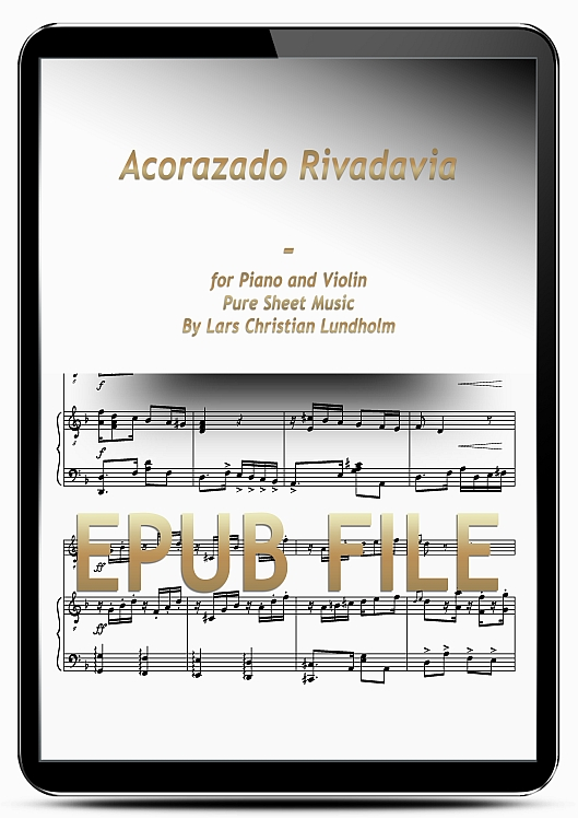 Thumbnail Acorazado Rivadavia for Piano and Violin (EPUB file), Pure Sheet Music as Ebook arranged by Lars Christian Lundholm