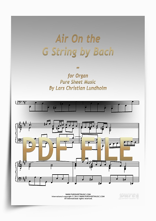 Thumbnail Air On the G String by Bach for Organ (PDF file), Pure Sheet Music arranged by Lars Christian Lundholm