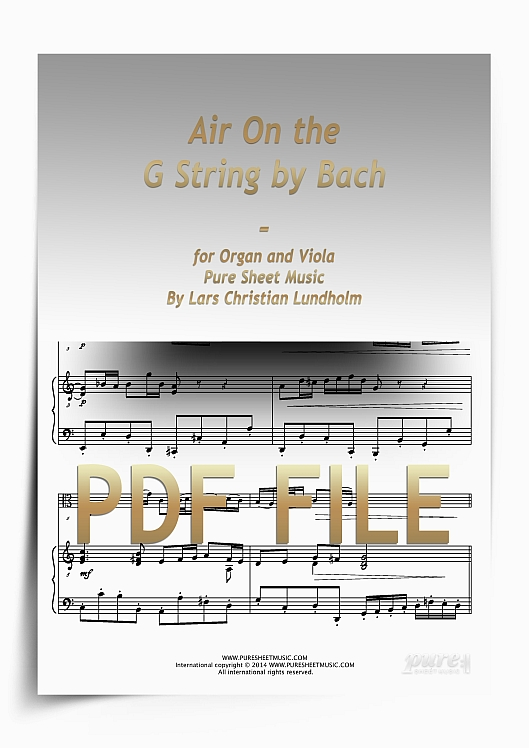 Thumbnail Air On the G String by Bach for Organ and Viola (PDF file), Pure Sheet Music arranged by Lars Christian Lundholm