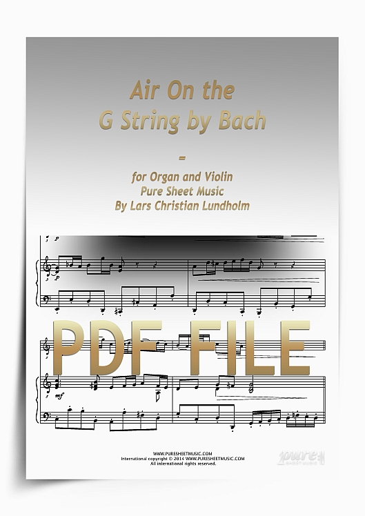 Thumbnail Air On the G String by Bach for Organ and Violin (PDF file), Pure Sheet Music arranged by Lars Christian Lundholm