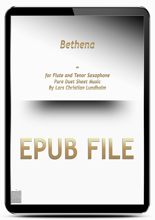 Thumbnail Bethena for Flute and Tenor Saxophone (EPUB file), Pure Sheet Music as Ebook arranged by Lars Christian Lundholm