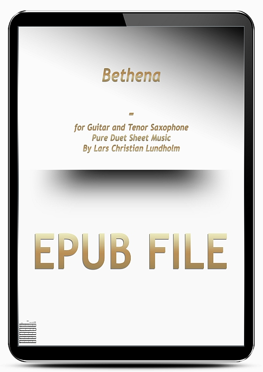 Thumbnail Bethena for Guitar and Tenor Saxophone (EPUB file), Pure Sheet Music as Ebook arranged by Lars Christian Lundholm