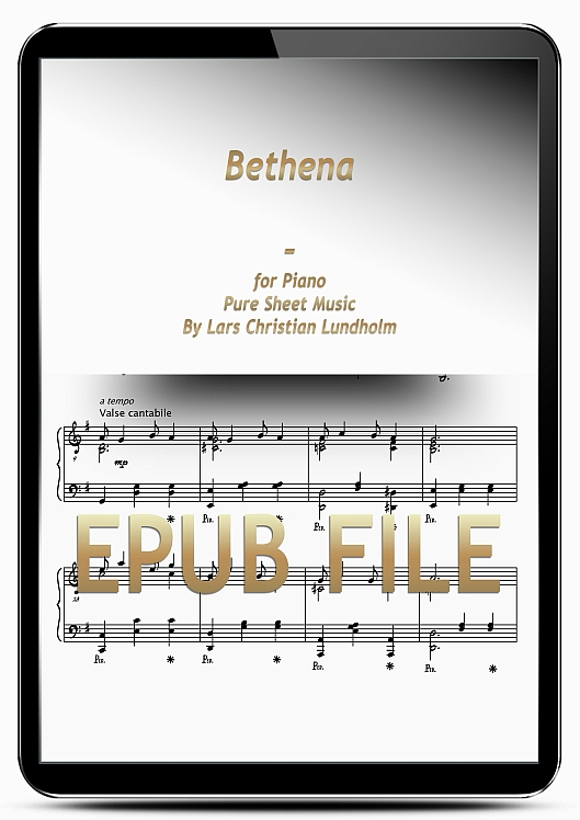 Thumbnail Bethena for Piano (EPUB file), Pure Sheet Music as Ebook arranged by Lars Christian Lundholm