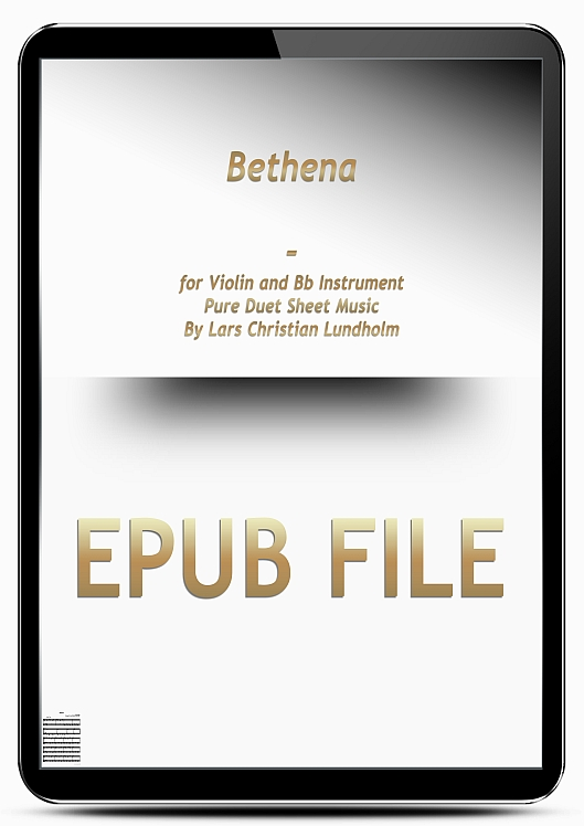 Thumbnail Bethena for Violin and Bb Instrument (EPUB file), Pure Sheet Music as Ebook arranged by Lars Christian Lundholm