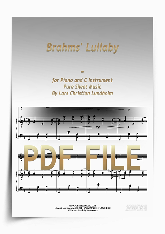 Thumbnail Brahms' Lullaby for Piano and C Instrument (PDF file), Pure Sheet Music arranged by Lars Christian Lundholm
