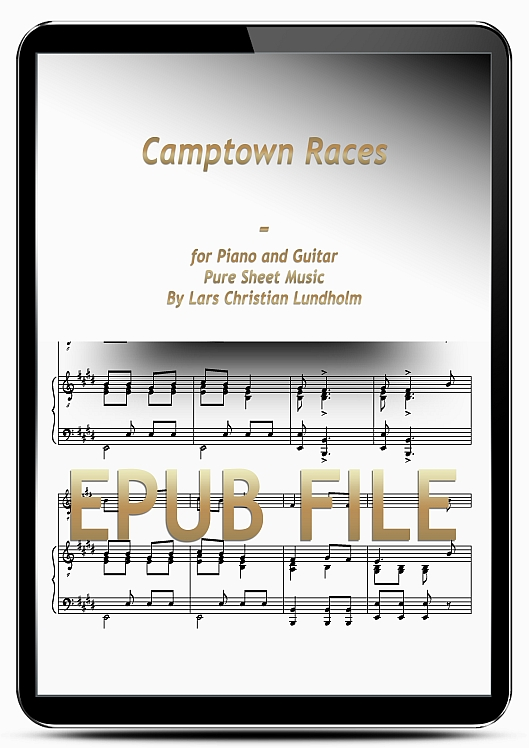 Thumbnail Camptown Races for Piano and Guitar (EPUB file), Pure Sheet Music as Ebook arranged by Lars Christian Lundholm