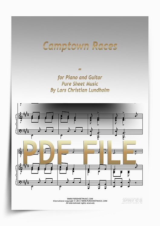 Thumbnail Camptown Races for Piano and Guitar (PDF file), Pure Sheet Music arranged by Lars Christian Lundholm