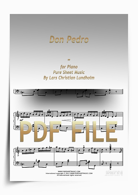 Thumbnail Don Pedro for Piano (PDF file), Pure Sheet Music arranged by Lars Christian Lundholm