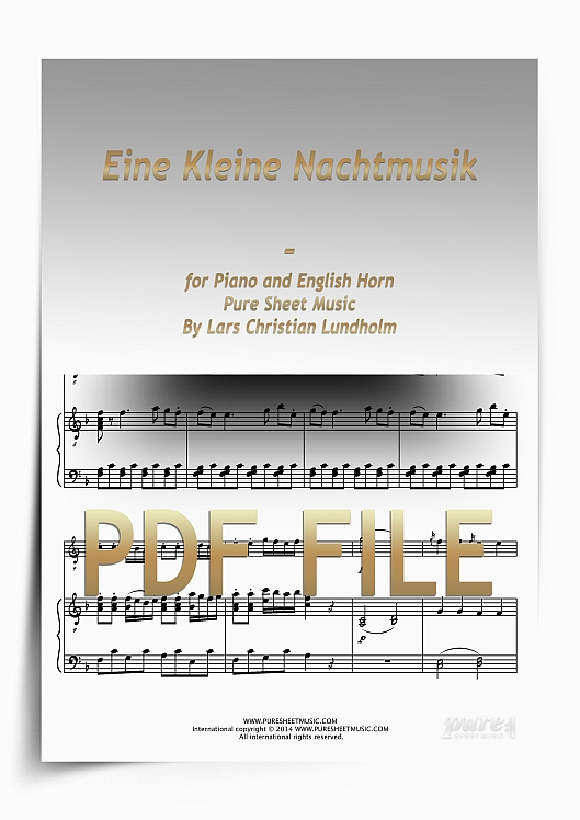 Thumbnail Eine Kleine Nachtmusik for Piano and English Horn (PDF file), Pure Sheet Music arranged by Lars Christian Lundholm