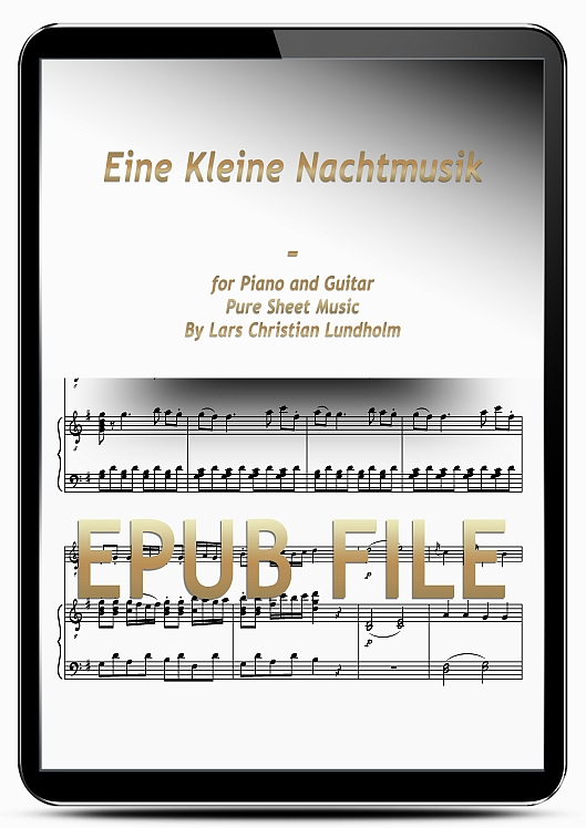 Thumbnail Eine Kleine Nachtmusik for Piano and Guitar (EPUB file), Pure Sheet Music as Ebook arranged by Lars Christian Lundholm