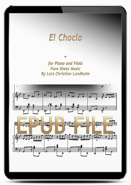 Thumbnail El Choclo for Piano and Viola (EPUB file), Pure Sheet Music as Ebook arranged by Lars Christian Lundholm