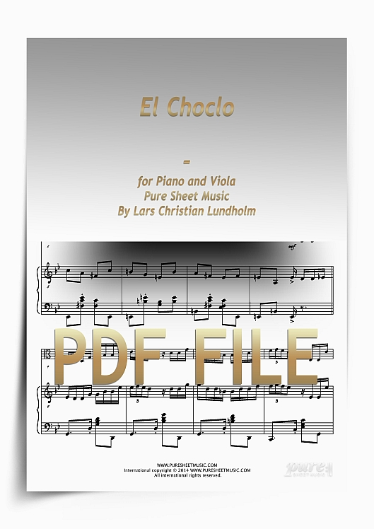 Thumbnail El Choclo for Piano and Viola (PDF file), Pure Sheet Music arranged by Lars Christian Lundholm