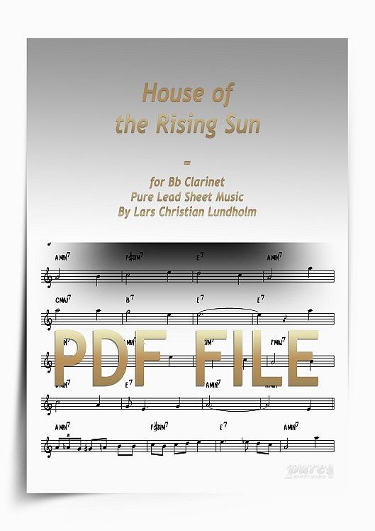 Thumbnail House of the Rising Sun for Bb Clarinet (PDF file), Pure Sheet Music arranged by Lars Christian Lundholm