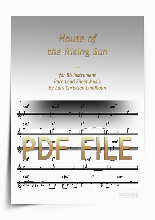 Thumbnail House of the Rising Sun for Bb Instrument (PDF file), Pure Sheet Music arranged by Lars Christian Lundholm