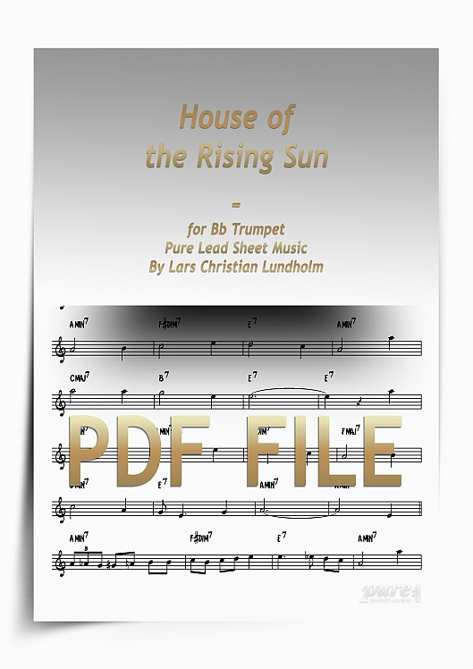 Thumbnail House of the Rising Sun for Bb Trumpet (PDF file), Pure Sheet Music arranged by Lars Christian Lundholm