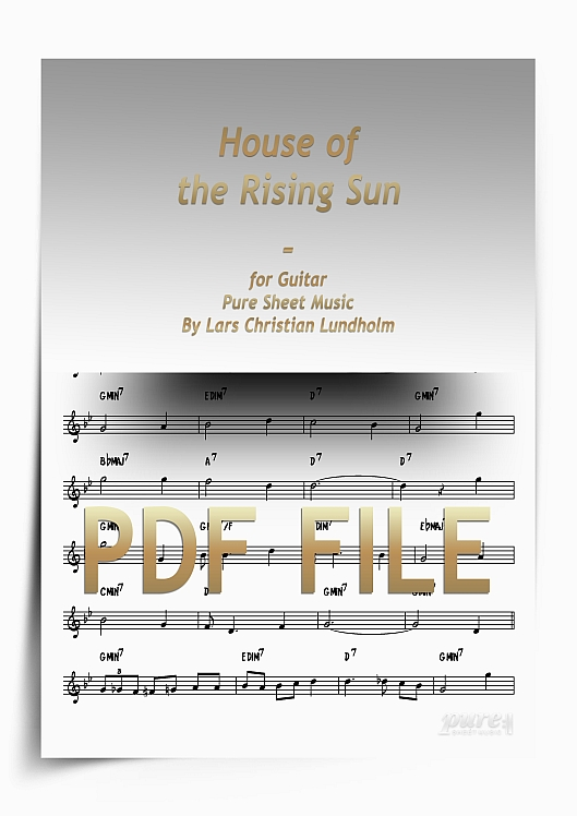 Thumbnail House of the Rising Sun for Guitar (PDF file), Pure Sheet Music arranged by Lars Christian Lundholm