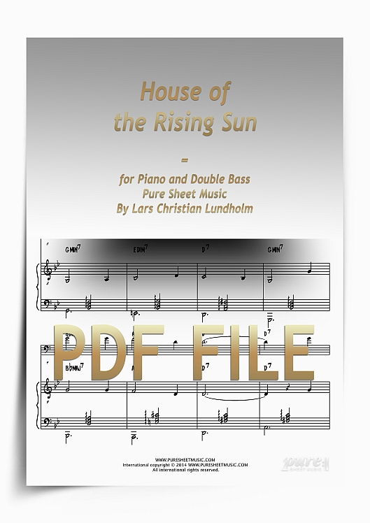 Thumbnail House of the Rising Sun for Piano and Double Bass (PDF file), Pure Sheet Music arranged by Lars Christian Lundholm