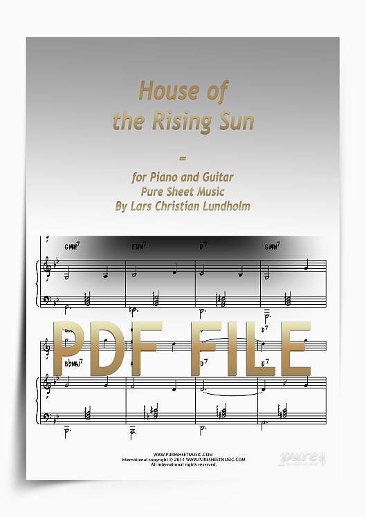 Thumbnail House of the Rising Sun for Piano and Guitar (PDF file), Pure Sheet Music arranged by Lars Christian Lundholm