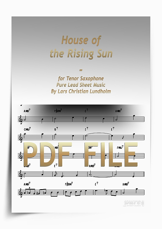Thumbnail House of the Rising Sun for Tenor Saxophone (PDF file), Pure Sheet Music arranged by Lars Christian Lundholm