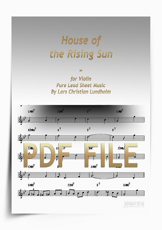 Thumbnail House of the Rising Sun for Violin (PDF file), Pure Sheet Music arranged by Lars Christian Lundholm