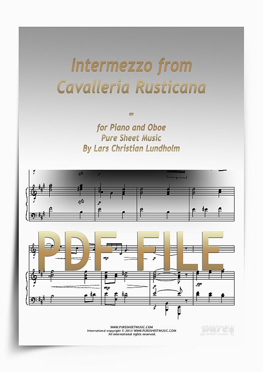 Thumbnail Intermezzo from Cavalleria Rusticana for Piano and Oboe (PDF file), Pure Sheet Music arranged by Lars Christian Lundholm