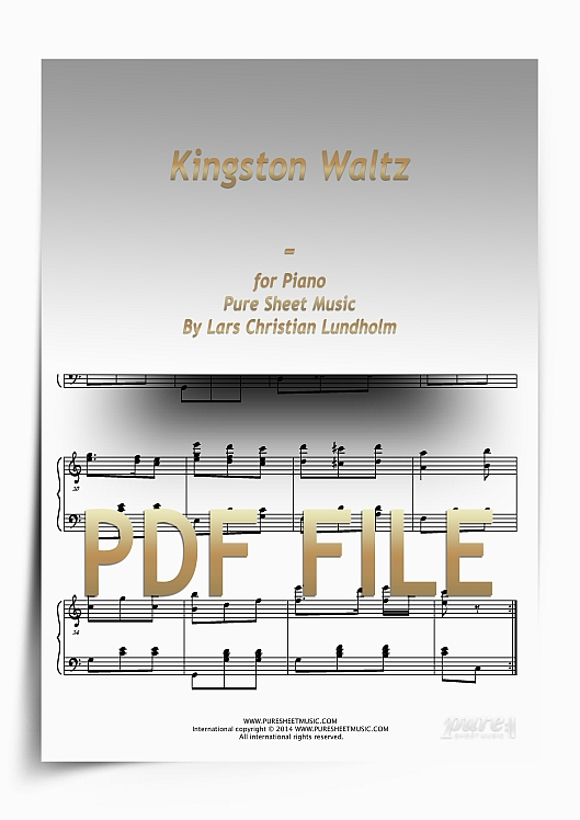 Thumbnail Kingston Waltz for Piano (PDF file), Pure Sheet Music arranged by Lars Christian Lundholm