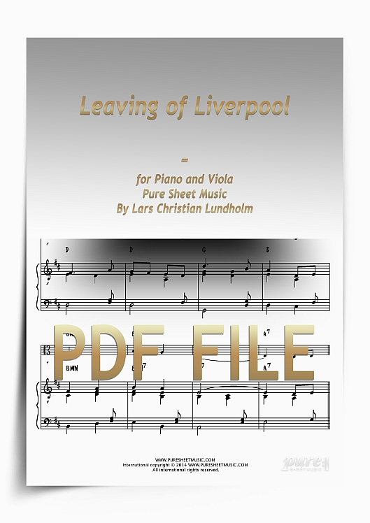 Thumbnail Leaving of Liverpool for Piano and Viola (PDF file), Pure Sheet Music arranged by Lars Christian Lundholm