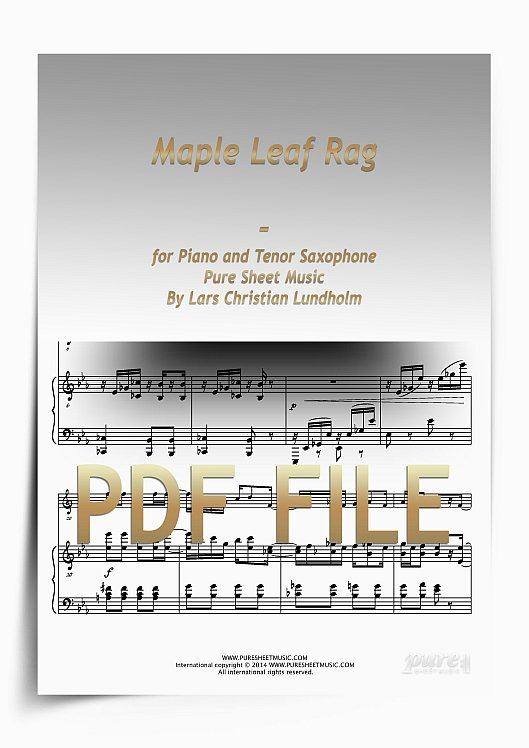 Thumbnail Maple Leaf Rag for Piano and Tenor Saxophone (PDF file), Pure Sheet Music arranged by Lars Christian Lundholm